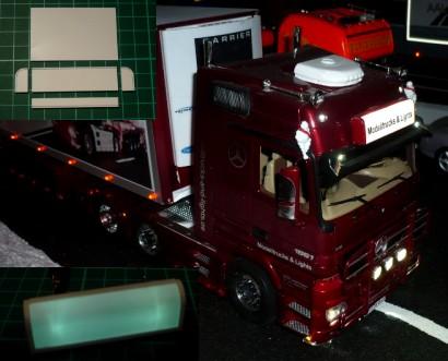 Headbord round model with lights ( lichtbak rond model met ...