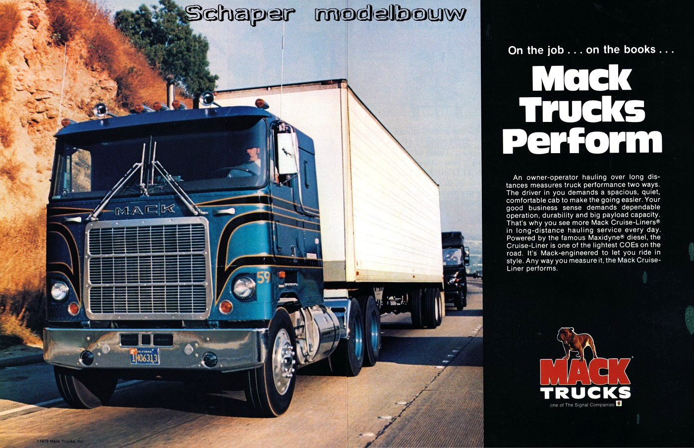 Mack Cruiseliner Schaper Modelbouw in addition  in addition  moreover  together with A. on 87 chevy truck